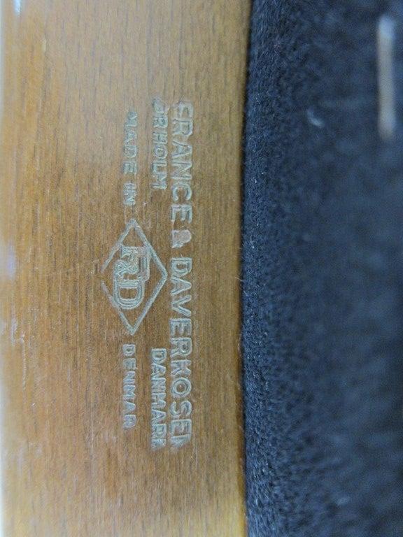Danish Arne Vodder Armchairs for France & Daverkosen For Sale