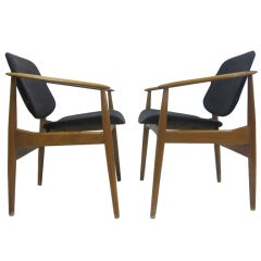 Arne Vodder Armchairs for France & Daverkosen