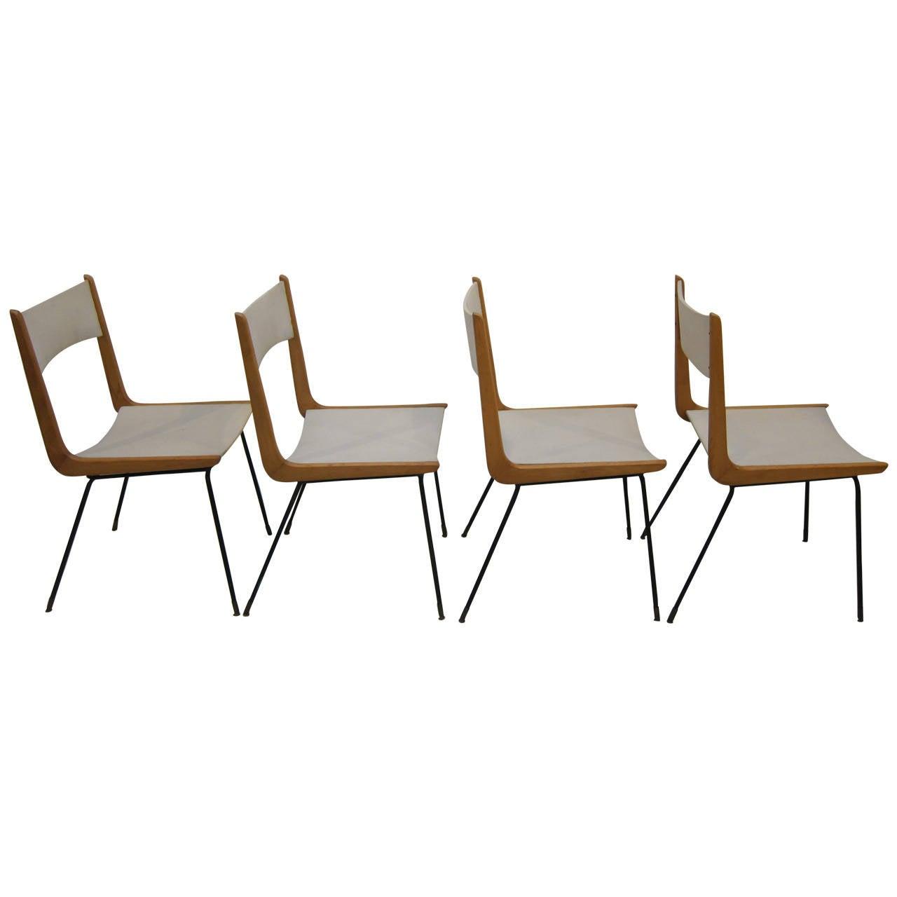Set of Four Chairs, Style of Carlo Di Carli