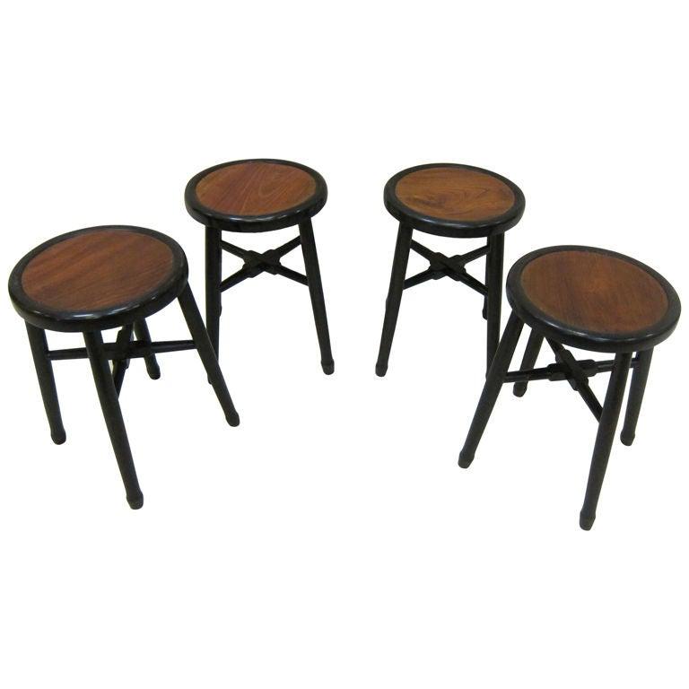 Art Deco Stools Side Tables