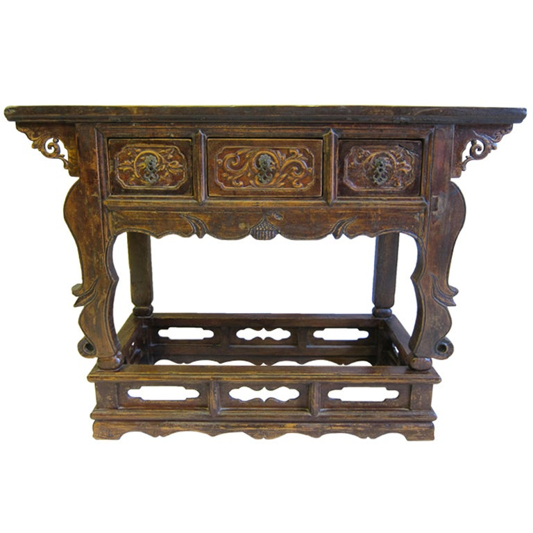 19th Century Chinese Altar Table For Sale