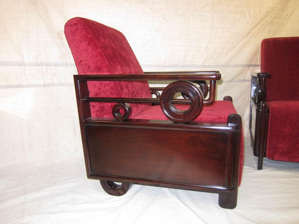Pair Art Deco Club Chairs 2