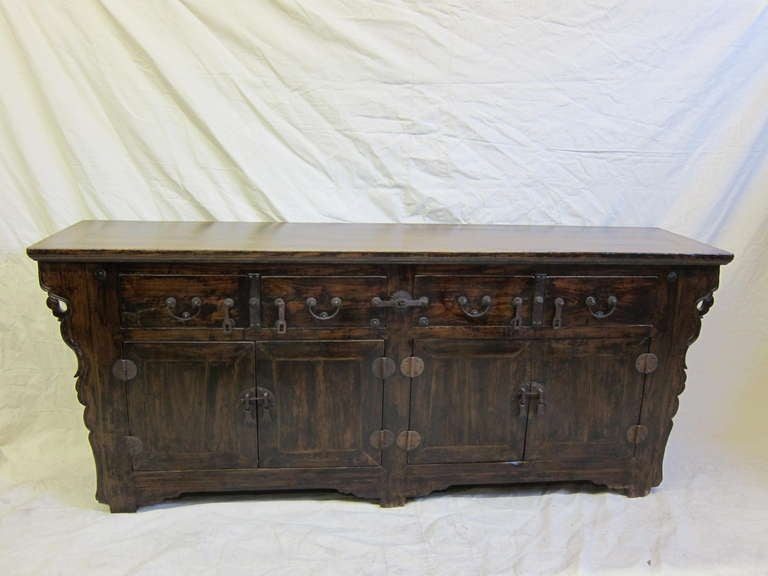 Elm 19th Century Chinese Sideboard For Sale