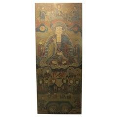 17th Century Buddhist Chinese Scroll Painting