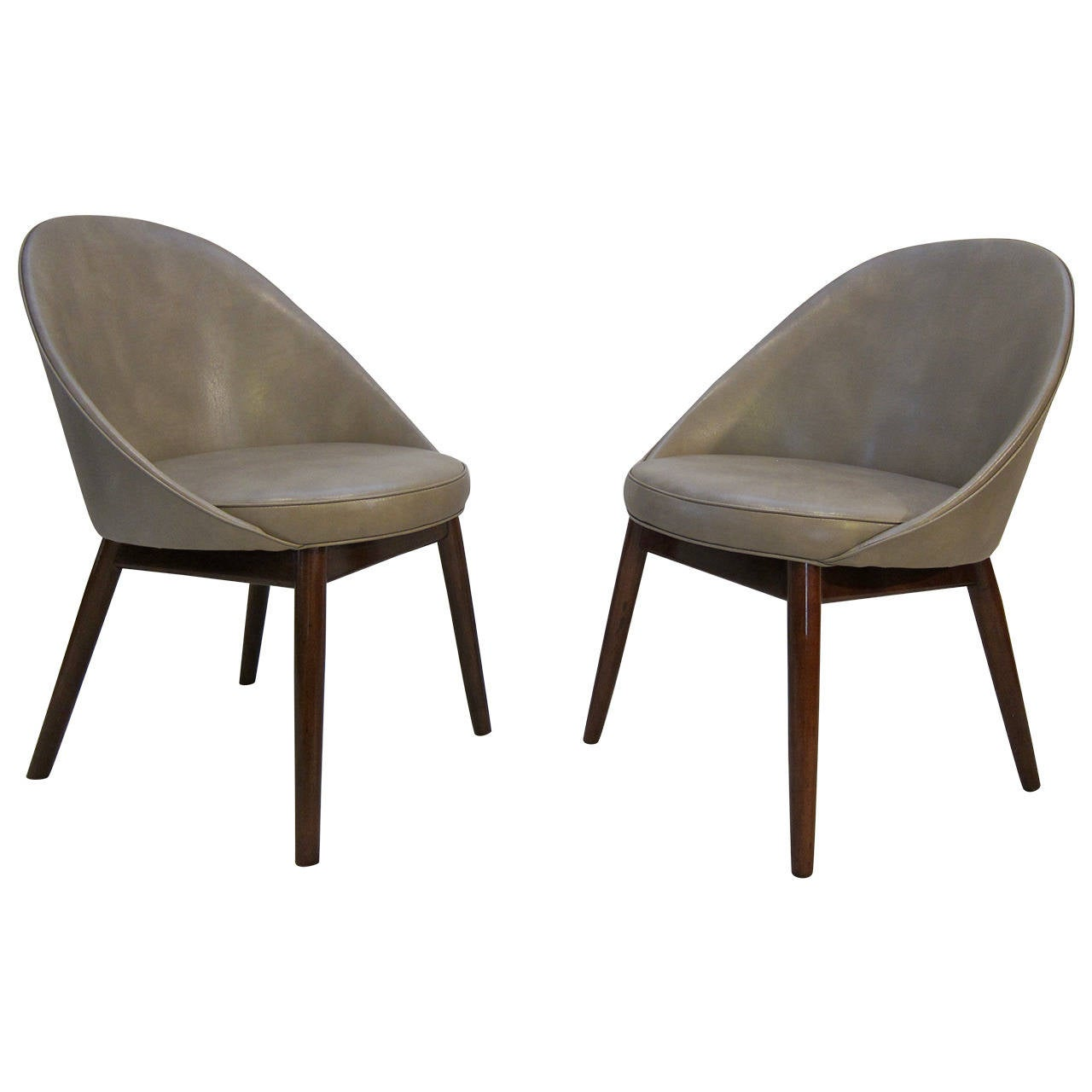 Pair of Danish Chairs Attributed to Ejvind Johansson For Sale