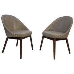 Pair of Danish Chairs Attributed to Ejvind Johansson