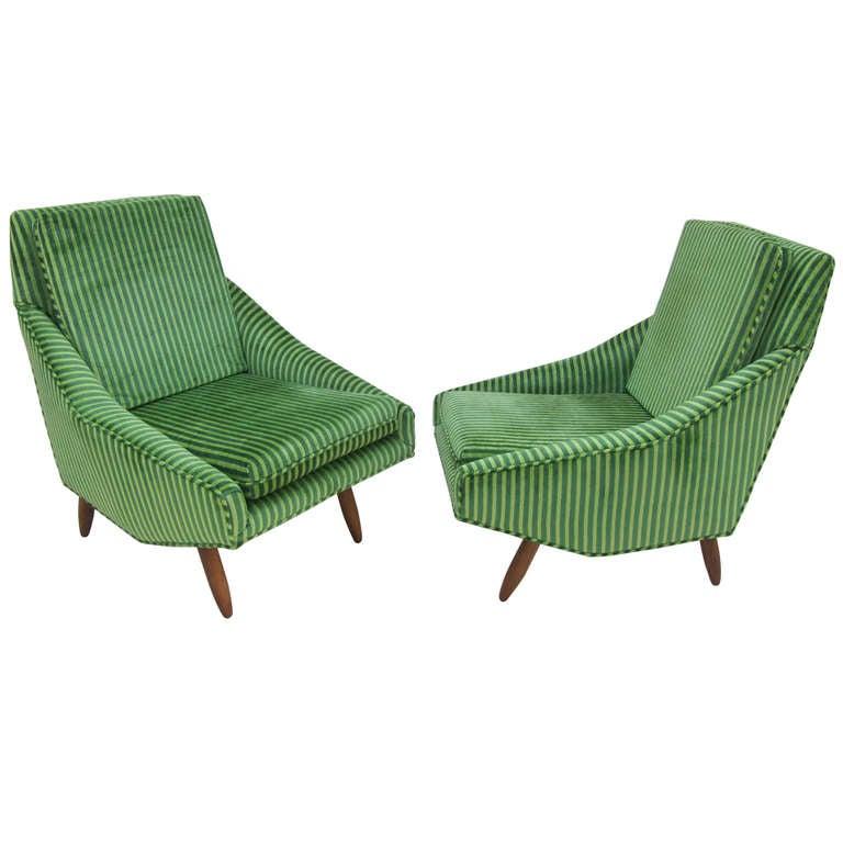 Italian Mid Century Modern Lounge Chairs