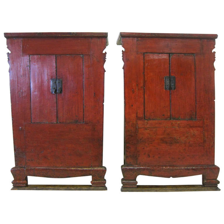 Superbe Pair Of 19th Century Chinese Cabinets For Sale