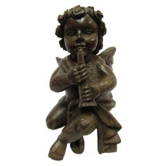 19th Century Putto Sculpture