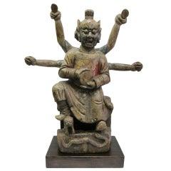 """17th - 18th Century Buddha Statue, """"Nezha"""""""