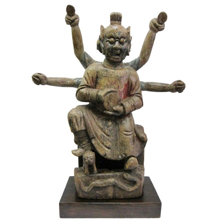 "17th - 18th Century Buddha Statue, ""Nezha"" For Sale"