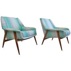 Italian Lounge Chairs Attributed to Carlo Di Carli
