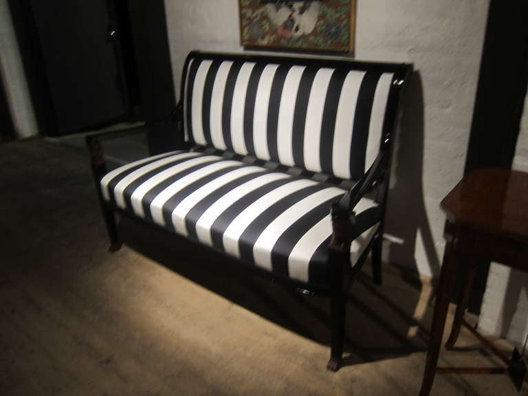 French Empire Sofa Bench Settee For Sale 4