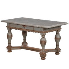 Exceptional Baroque Stone Top Table