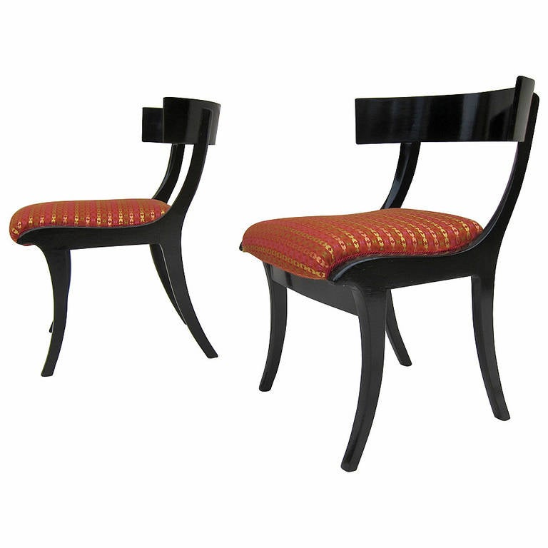 Pair of 19th Century Klismos Chairs