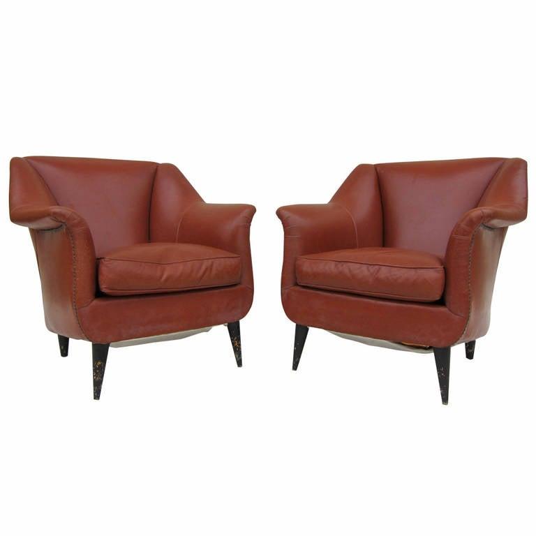 Pair of Club Chairs by Carlo di Carli