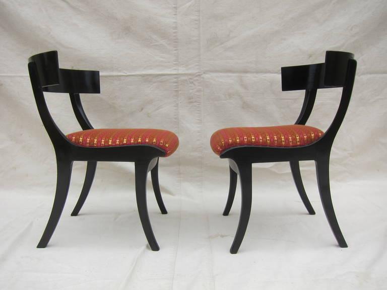 Danish Pair of 19th Century Klismos Chairs For Sale
