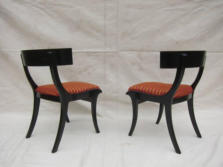 Hardwood Pair of 19th Century Klismos Chairs For Sale