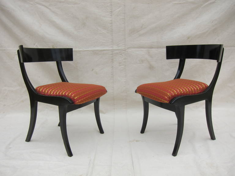 Pair of 19th Century Klismos Chairs For Sale 1