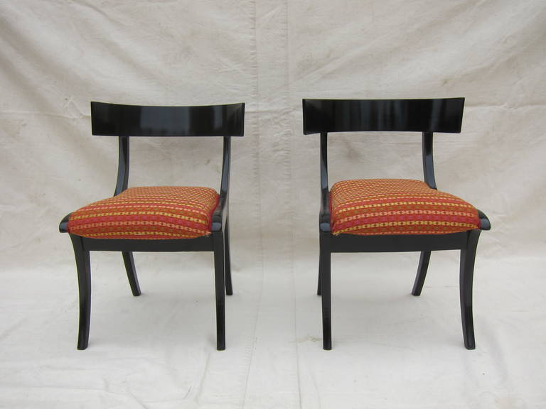 Pair of 19th Century Klismos Chairs For Sale 2