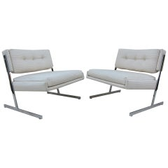 Harvey Probber Chrome Lounge Chairs