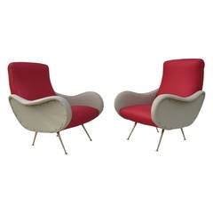 Mid-Century Italian Lounge Chairs