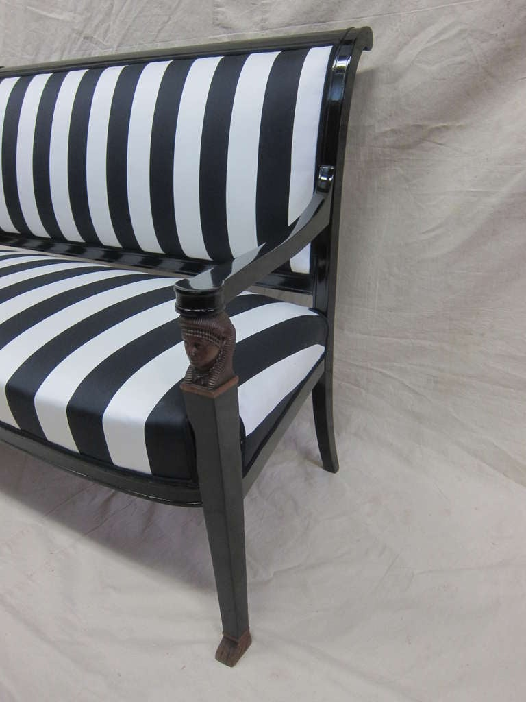 French Empire Sofa Bench Settee For Sale 2