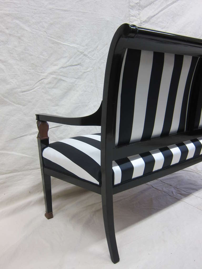 French Empire Sofa Bench Settee For Sale 3