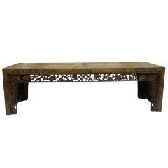 19th Century Carved Low Table Bench