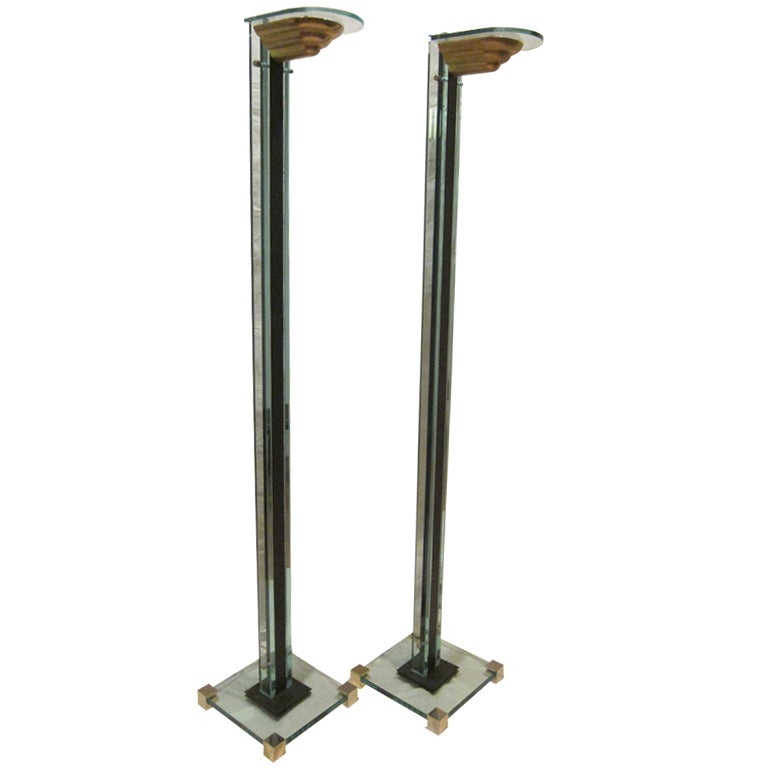 art deco torchiere floor lamps at 1stdibs. Black Bedroom Furniture Sets. Home Design Ideas
