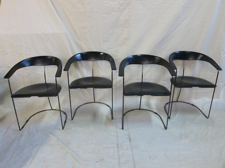 Mid-20th Century Arrben Leather Chairs  For Sale