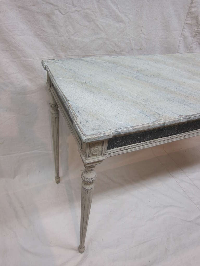 Pine Gustavian Console Table For Sale