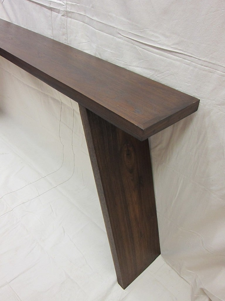 Teak wood console table at stdibs