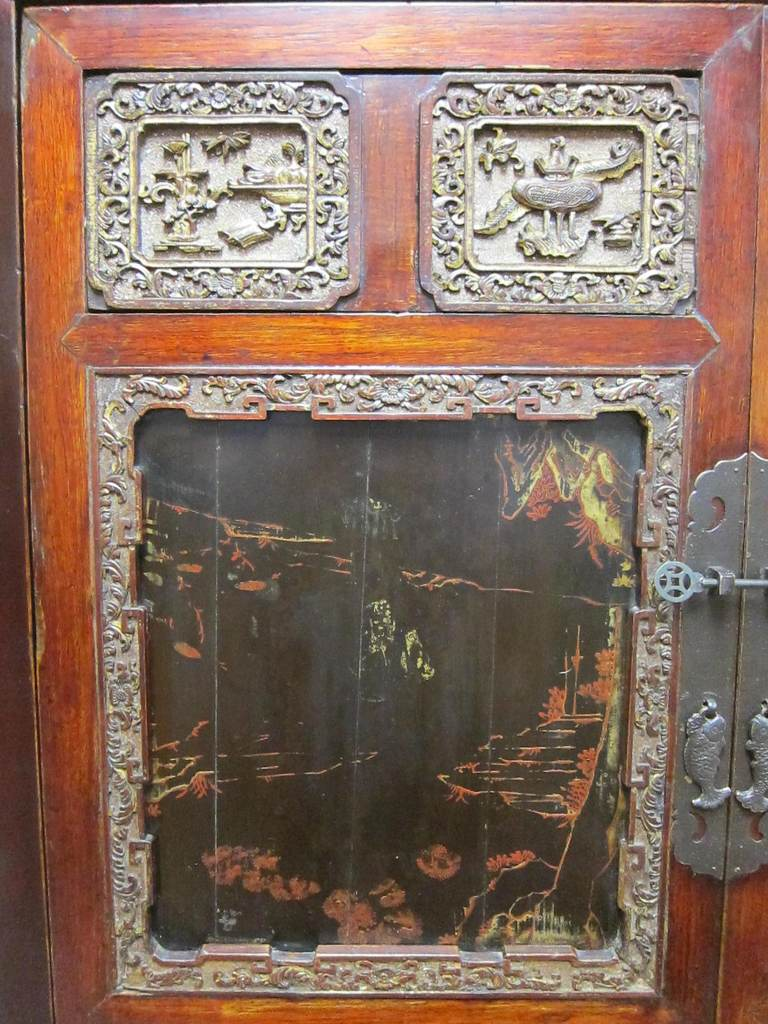 Qing 19th Century Chinese Cabinet For Sale