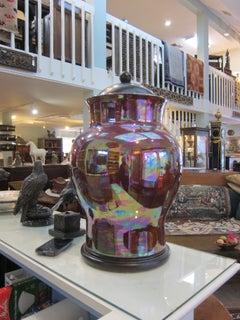 Large Iridescent Italian Urn