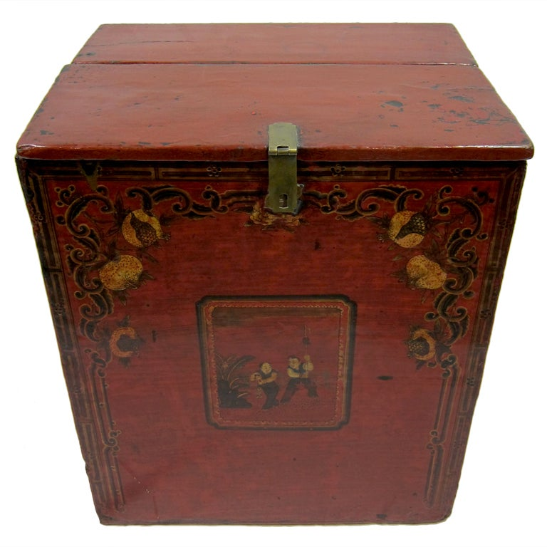 19th Century Mongolian Chest For Sale