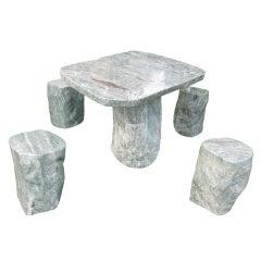 Stone Table  Garden Set