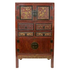 19th Century Carved Gilt Cabinet