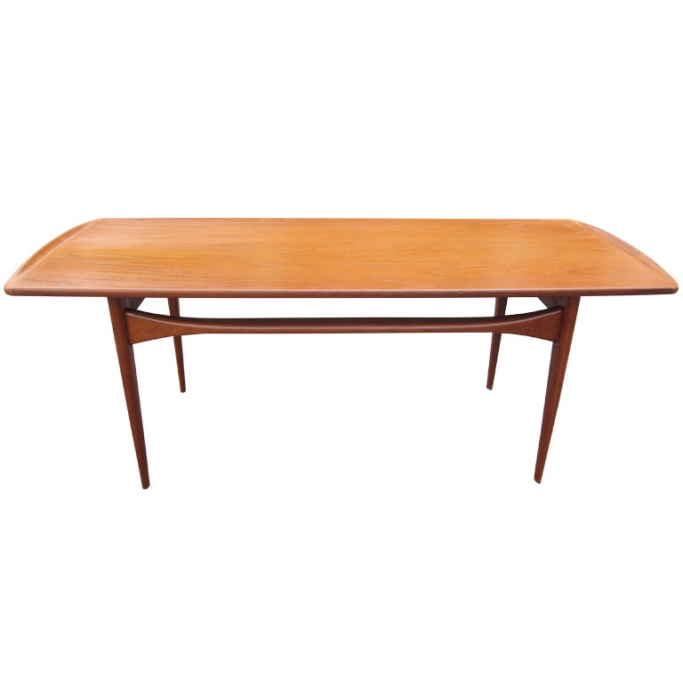 Danish modern midcentury coffee table at 1stdibs for Danish modern coffee table