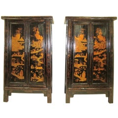 Paired 19th Century Wedding Cabinets