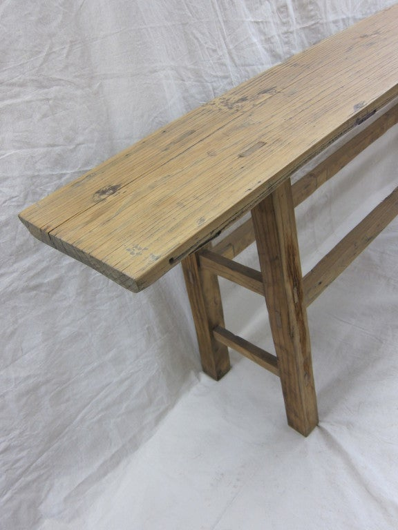 Chinese 19th Century Nam Wood Console Table For Sale
