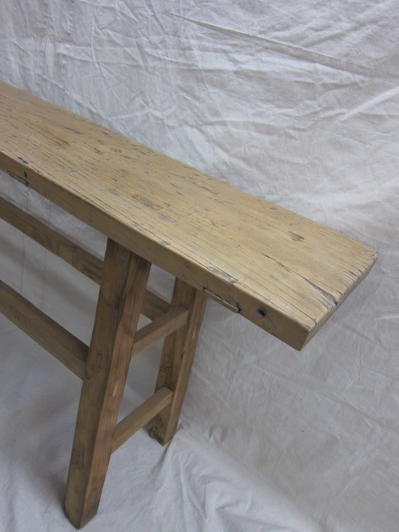 19th Century Nam Wood Console Table In Good Condition For Sale In New York, NY