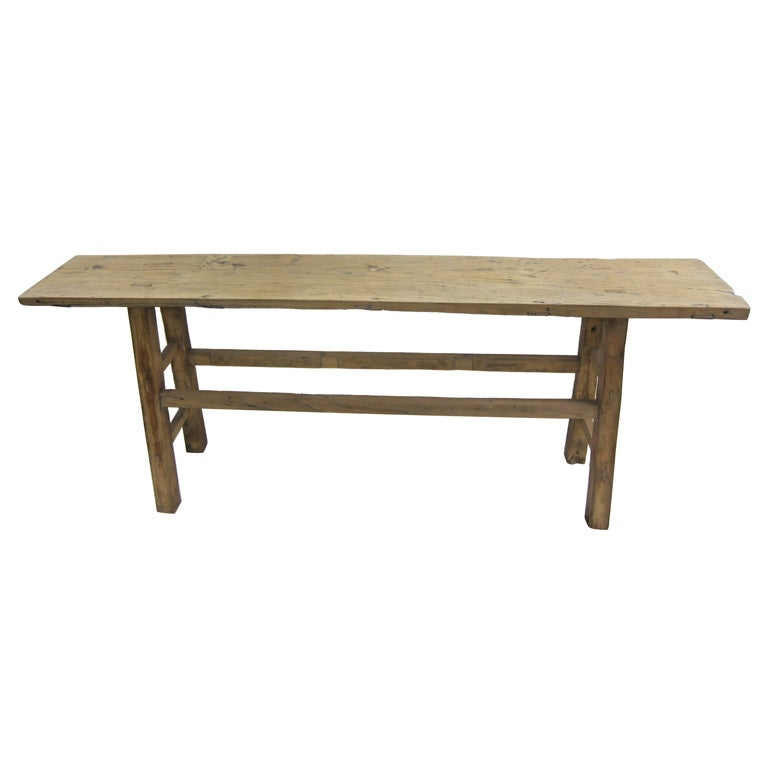 19th Century Nam Wood Console Table For Sale