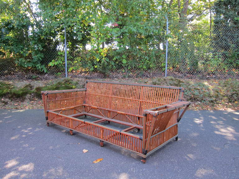 American Antique Rattan Set For Sale