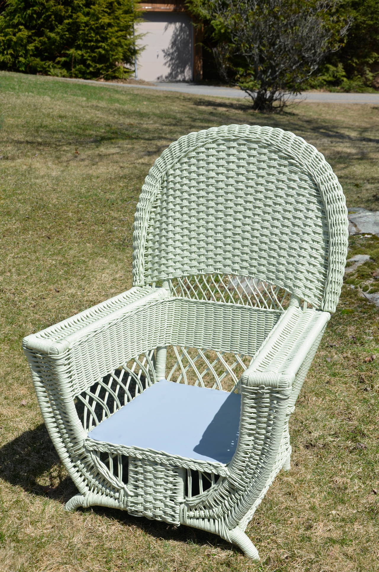 20th Century High Style Antique Wicker Parlor Set For Sale