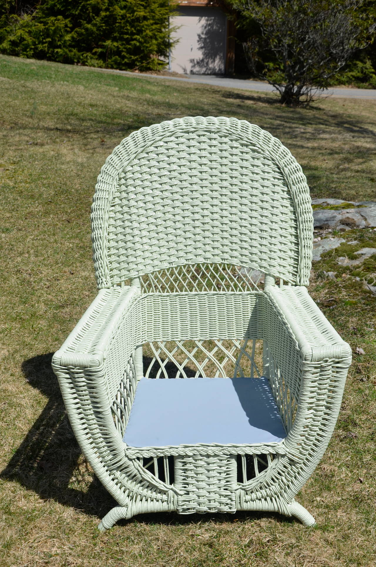 High Style Antique Wicker Parlor Set In Excellent Condition For Sale In Old Saybrook, CT