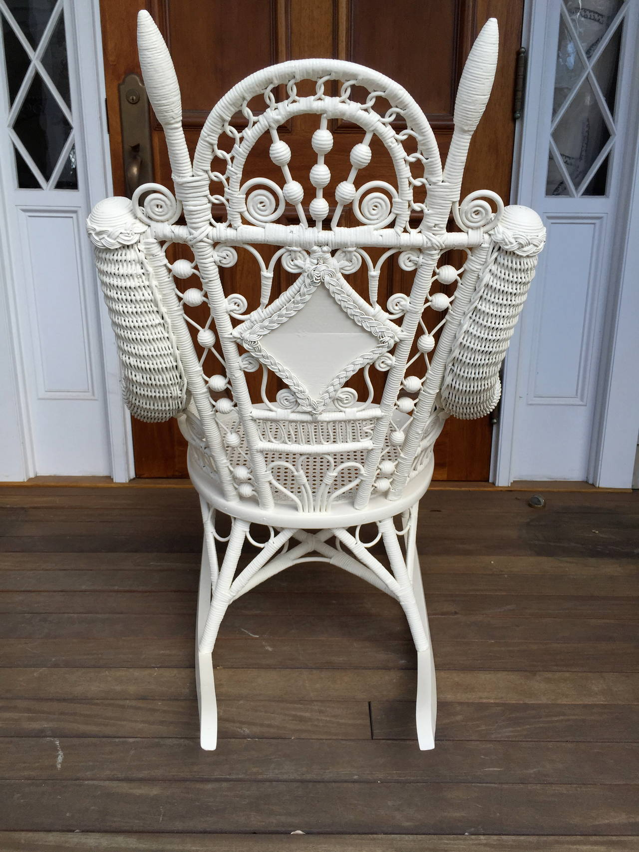 Antique Victorian Wicker Quot Emma Quot Rocker For Sale At 1stdibs