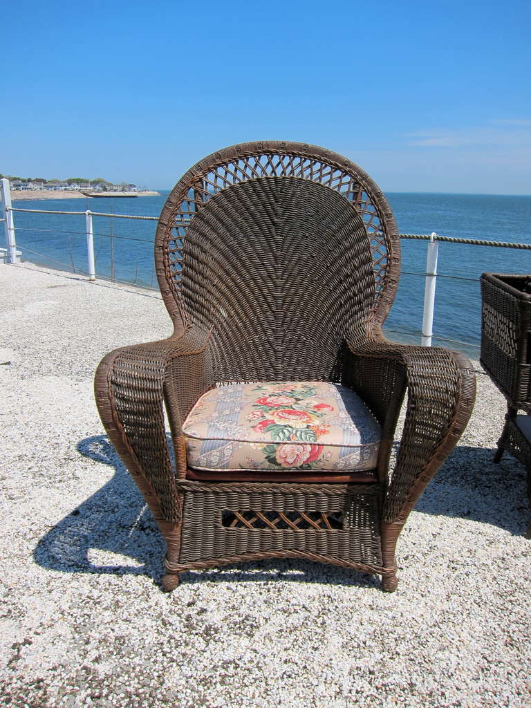 Rare Antique Wicker Set In Good Condition For Sale In Old Saybrook, CT