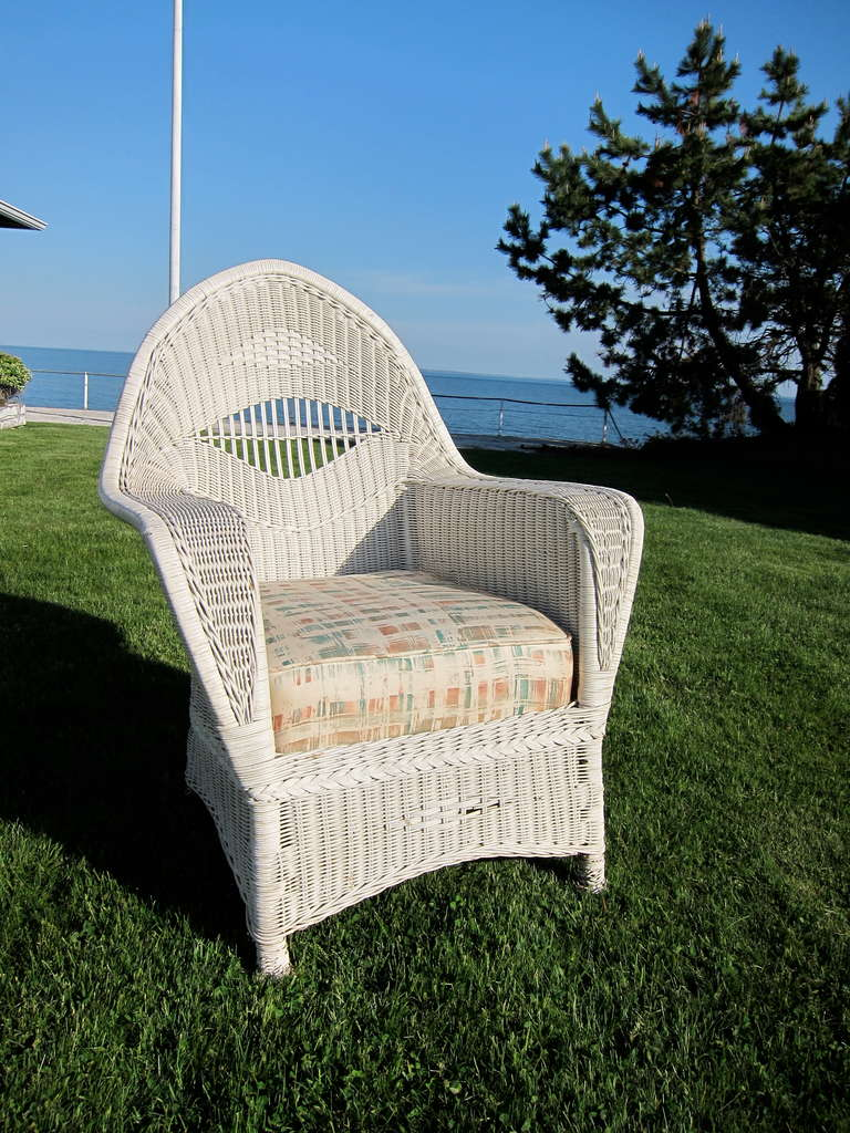 Antique Ypsilanti Wicker Set In Good Condition For Sale In Old Saybrook, CT