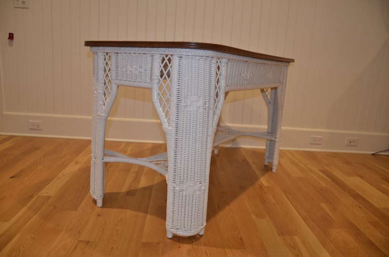 American Antique Wicker Table For Sale